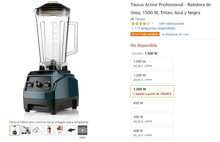 La Mejor Batidora De Vaso Taurus En Amazon